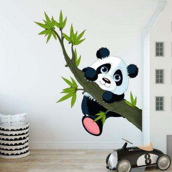 muursticker panda kinderkamer