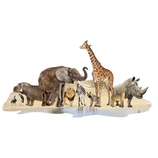 afrikaanse dieren muurdecoratie sticker
