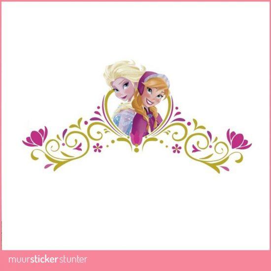 anna elsa frozen disney muurstickers stunter stickers wand kinderkamer prinsessenkamer meisjeskamer