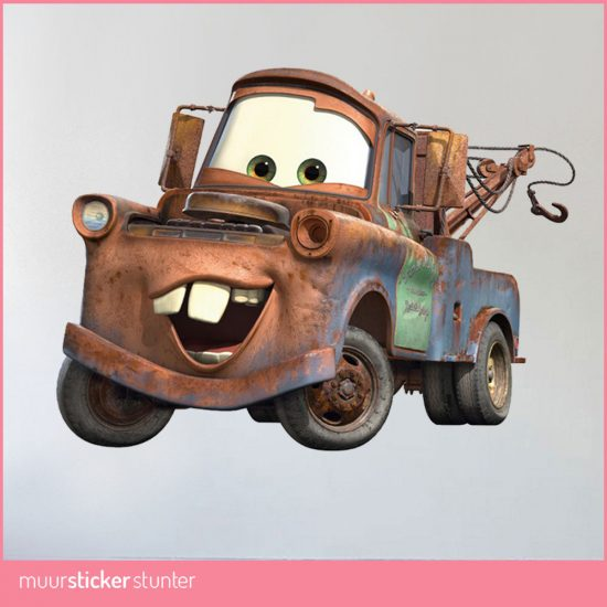 Cars muursticker disney mater kinderkamer kids sticker