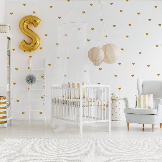 hartjes-muurstickers-set-goedkoop-zwart-goud-scandinavische-kinderkamers-muur-ideeen