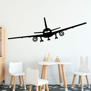 vliegtuig-muursticker-boeing-747-kinderkamer-wit-zwart-kleur-goedkoop-dubbeldekker