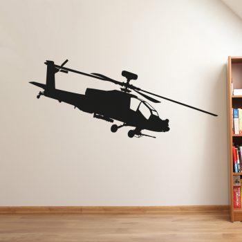 helicopter-muursticker-zwart-apache-gevechtsvliegtuig-leger-goedkoop-
