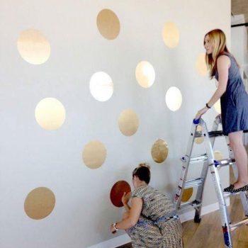 gouden-stippen-muurstickers