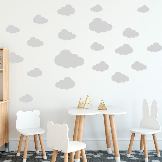 wolkenset muursticker