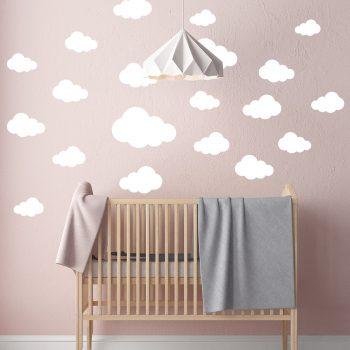 muursticker-babykamer-wolken-wit-blauw-goedkoop-muurstickerstunter-wandsticker-kinderkamer-zwart-set
