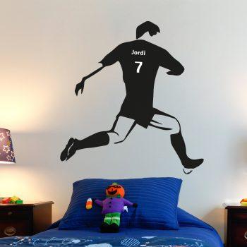 muursticker-voetballer-met-eigen-naam