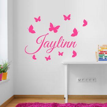 vlinders-muurstickers-met-naam-meisjes-kamer-roze-wit-kleurrijk-vrolijk-butterfly-wallsticker-name
