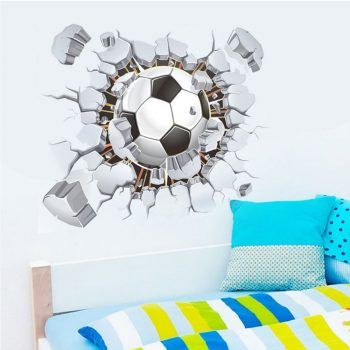 3d-voetbal-muursticker