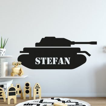 muursticker-leger-tank-naam-eigen