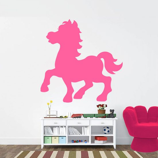 Muursticker Paard Paarden Kamer Slaapkamer Silhouetten deursticker paard Sjabloon galopperend