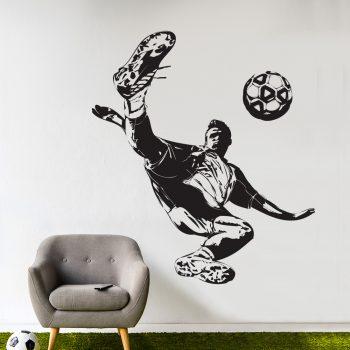 voetballer-omhaal-muursticker-kinderkamer-voetbal-zwart-bal