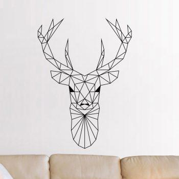 muursticker-hert-stikker-origami-lijnen-zwart-stijl