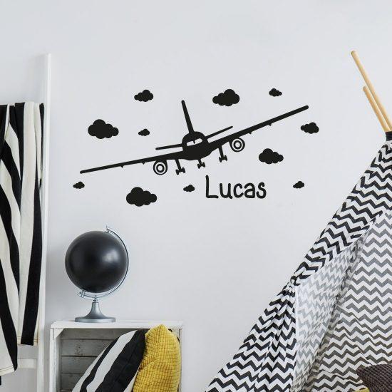 vliegtuig-met-naam-muursticker