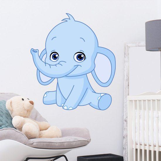 muursticker-olifant-babykamer-jongen-meisje