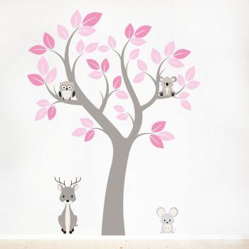 muursticker-boom-meisjeskamer-babykamer-meisje-kinderkamer-dieren