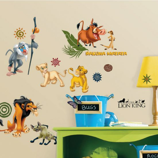 Lion-king-muurstickers-simba-pumba-timon-mufasa-