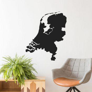 kaart-map-nederland-holland-netherlands-muursticker-sticker