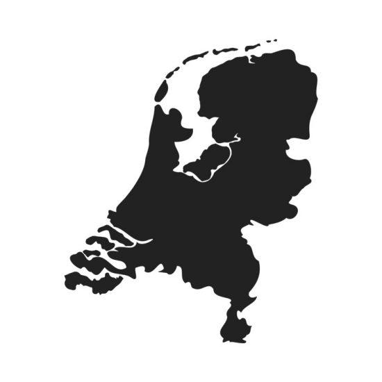 nederland-landkaart-sticker-zwart-wit-holland-map-muursticker