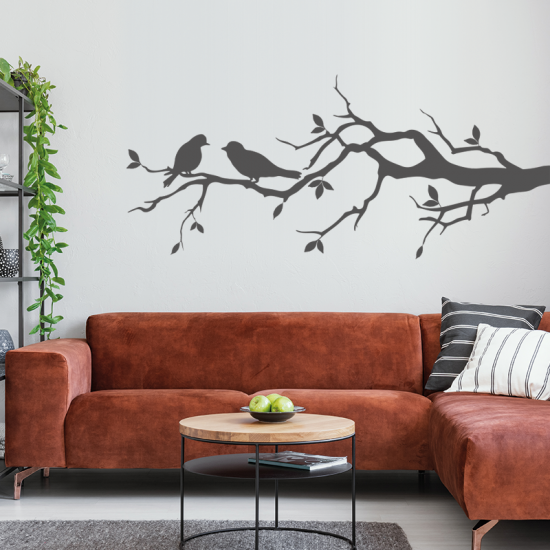 muursticker-vogels-op-tak-grijs-zwart-wit