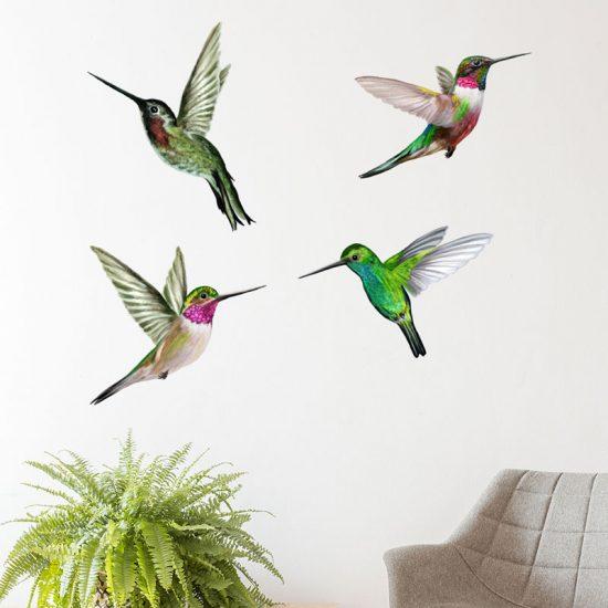 Muursticker-tropische-vogels-hummingbird-kolibrie