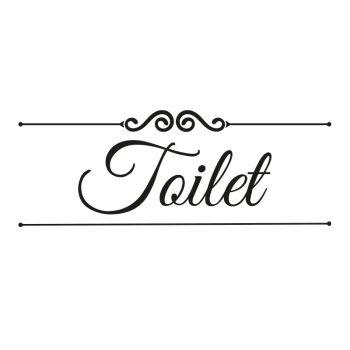 deursticker toilet bathroom badkamer wc zwart