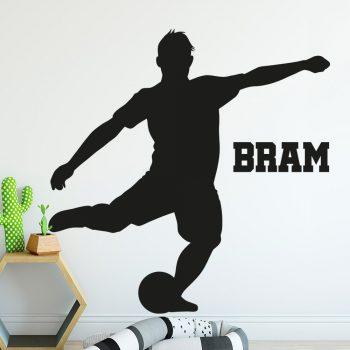 muursticker-voetbal-raamsticker-zwart-naamstiker-kinderkamer-stoer