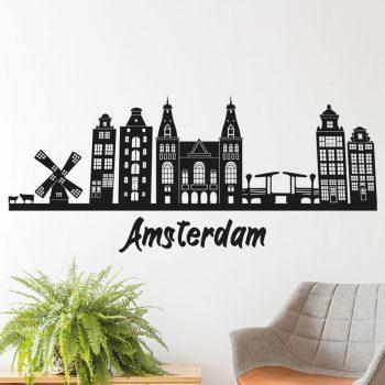 muursticker-skyline-amsterdam-stad-diy-goedkoop-muur