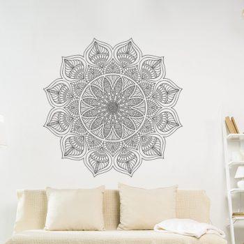 muursticker mandala namaste hallo yoga ideeen inspiratie bloem sticker wand decoratie