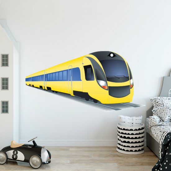 Muursticker trein nederlandse spoorwegen NS kinderkamer