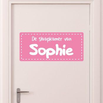 deursticker kinderkamer meisje meisjeskamer roze