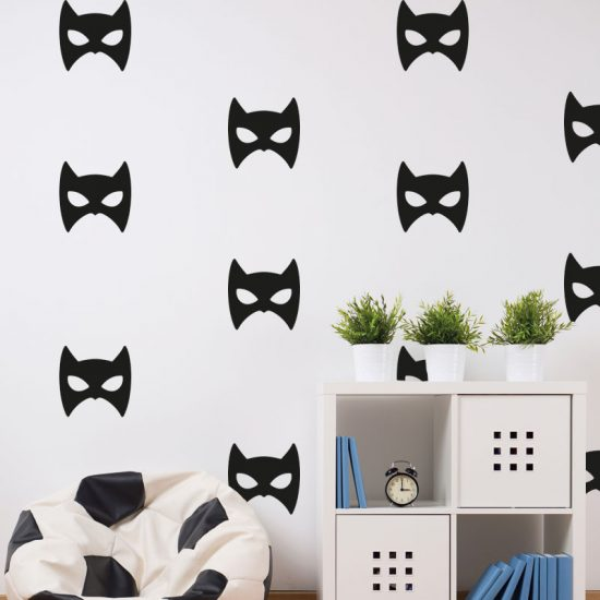 muursticker-batman-super-heroes-zwart-masker