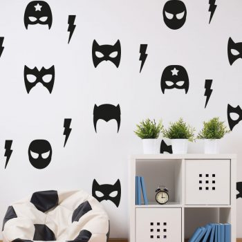 muursticker-heroes-mask-super-