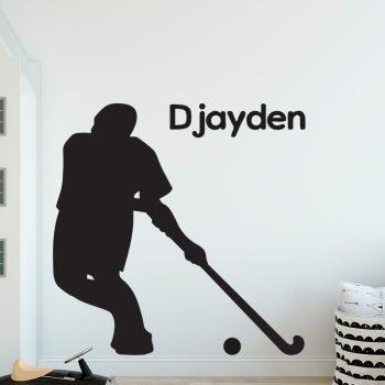 muursticker hockey kinderkamer stoer ideeen diy inspiratie zwart modern