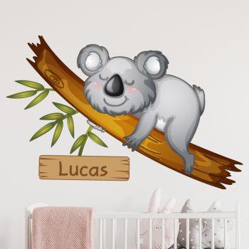 muursticker koala met naam babykamer beer inspiratie diy leuk ideeen