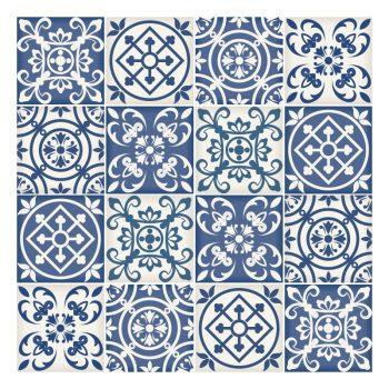 tegelstickers keramiek vierkant 10x10 20x20 15x15 blauw delfs