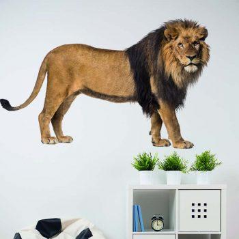 muursticker leeuw kinderkamer welp lion stoere kinderkamer ideeen diy goedkoop