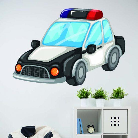 muursticker politieauto kinderkamer ideeen stoer brandweer diy sirenes dienstwagen