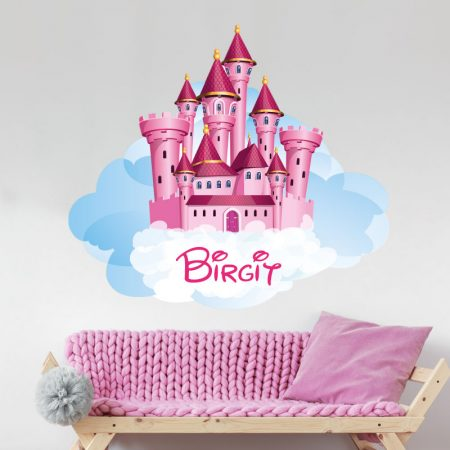 Afbeelding muursticker met een kasteel