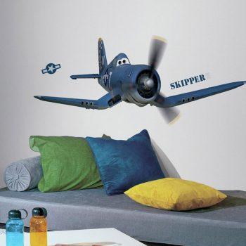 muursticker planes skipper
