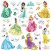 muurstickers princess meisjeskamer roze rapunzel belle jasmine cinderella prinsessen kamer