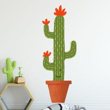 muursticker cactus cactus sticker - sy lance kinderkamer ideeen inspiratie leuk muurdecoratie