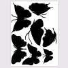 muursticker vlinders zwart vogelbescherming